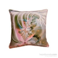 Yastıkminder Polyester Pembe Fıstık Spiral Baskılı Yastık