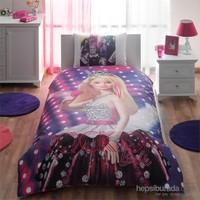 Taç Lisanslı Tek Kişilik Nevresim Takımı - Barbie Rockn Royal