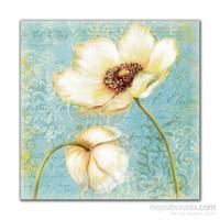 Dolce Home Beyaz Çiçek Dekoratif Tablo Adgt25