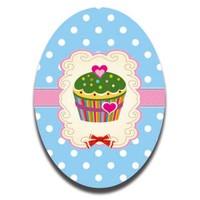 Dolce Home Kalp Desen Cupcake Dekoratif Tablo Ccake03