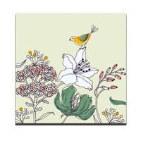 Dolce Home Dekoratif Tablo Çiçek Ve Kuş Dg1b1k20m4