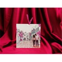 Bodrum Sokakları Düğün Davetiye 100 Adet Zarfsız