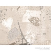 Kule Gümüş Emboss Duvar Kağıdı