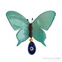Yeşil Renkli Şeffaf Kelebek Nazarlık