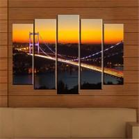 Canvastablom B193 İstanbul Köprü Parçalı Tablo