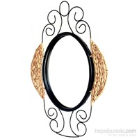 Alldeco Ferforje & Su Sümbülü Detaylı Ayna 40 X 60 X 4 Cm