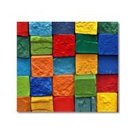 Tictac Renkli Taşlar Kanvas Tablo - 60X60 Cm