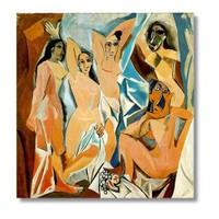 Tictac Picasso Kanvas Tablo - 50X50 Cm - 50X50 Cm