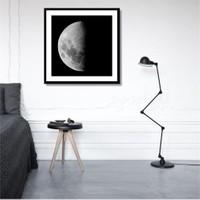 Tictac Yarım Ay Kanvas Tablo - 60X60 Cm