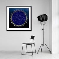 Tictac Yıldız Haritası 1 Kanvas Tablo - 50X50 Cm