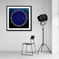 Tictac Yıldız Haritası 1 Kanvas Tablo - 70X70 Cm