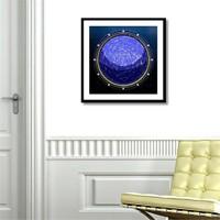 Tictac Yıldız Haritası 2 Kanvas Tablo - 70X70 Cm