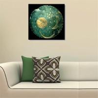 Tictac Antik Gökyüzü Haritası Kanvas Tablo - 70X70 Cm