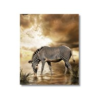 Tictac Zebra Kanvas Tablo - 70X70 Cm