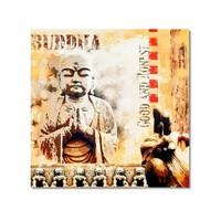 Tictac Buddha 2 Kanvas Tablo - 70X70 Cm