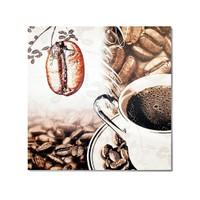 Tictac Kahve Çekirdeği 2 Kanvas Tablo - 70X70 Cm