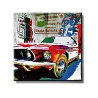 Tictac Kırmızı Shelby Kanvas Tablo - 70X70 Cm