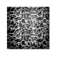 Tictac Metalik Kanvas Tablo - 50X50 Cm
