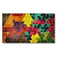 Tictac Üçgenler Kanvas Tablo - 40X80 Cm