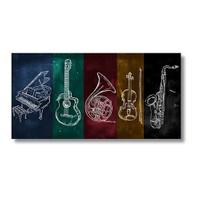 Tictac Jazz Müzik Kanvas Tablo - 60X120 Cm