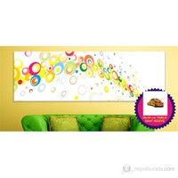 Renkler Kanvas Tablo (Saat HEDİYE)