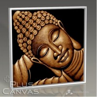 Pluscanvas - Buddha Cross Tablo