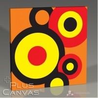 Pluscanvas - Circles İn Orange Tablo