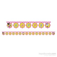 KullanAtMarket Minnie Pembe Fiyonklu Happy Birthday Harf Afiş 1 Adet