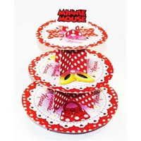 Parti Paketi Minnie Mouse Cupcake Standı