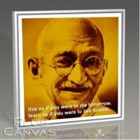Pluscanvas - Gandhi - Live And Learn Tablo