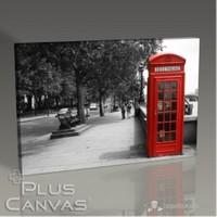 Pluscanvas - London - Red Booth Tablo