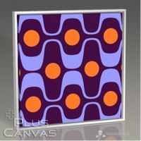 Pluscanvas - Wavy Blue Tablo