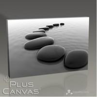 Pluscanvas - Pebbles On Sand Tablo