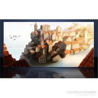 Kırmızı Kiremit Çatılar Kanvas Tablo