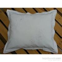 Begüldan Beyaz Dekoratif Yastık