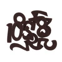 La Mia 10'Lu Kahverengi Sayı Keçe Motifler M65