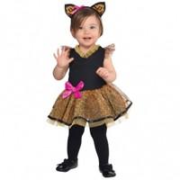 Parti Paketi Bebek Leopar Kız Kostümü 12-24 Ay