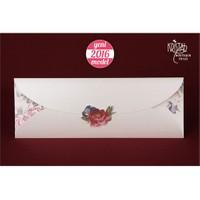 Bahar Çiçekleriyle Süslü Sade Düğün Davetiye 100 Adet Zarfsız