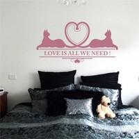 I Love My Wall Konuşan Duvarlar (Kd-030)Sticker(Baykuş Sticker Hediye!)