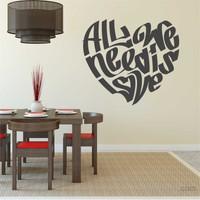 I Love My Wall Konuşan Duvarlar (Kd-034)Sticker(Baykuş Sticker Hediye!)