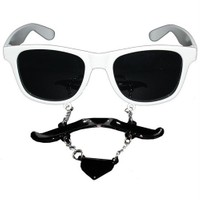 Pandoli Sakal Bıyıklı Parti Gözlüğü Beyaz
