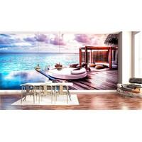Iwall Resimli Deniz Ve Sandal Duvar Kağıdı 180X130