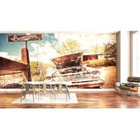 Iwall Resimli Eski Araba Duvar Kağıdı 370X250