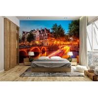 Iwall Resimli Renkli Akşam Duvar Kağıdı 180X130