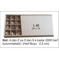 Hobi Ahşap Dokoratif- (A Dan Zye Harf Ve 0 Dan 9 A Kadar 2000 Harf)