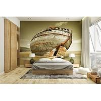 Iwall Resimli Eski Tekne Duvar Kağıdı 180X130