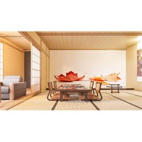 Iwall Resimli Yapraklar Duvar Kağıdı 250X180