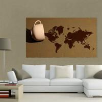 Atlantis Tablo Dünya Haritası 75X40 Cm