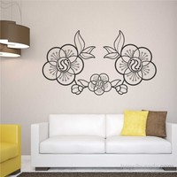 I Love My Wall Floral (F-066)Sticker(Baykuş Sticker Hediye!)