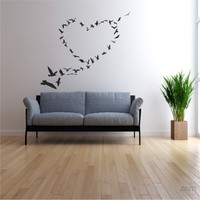 I Love My Wall Floral (F-302)Sticker(Baykuş Sticker Hediye!)